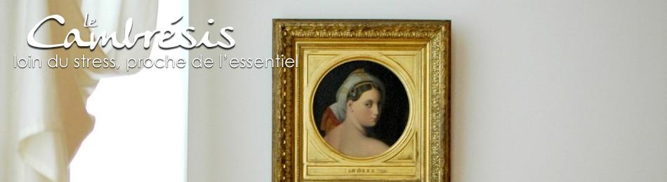 """Musee de cambrai, """"Tête de la grande Odalisque cou"""