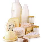 produits laitiers sur fond blanc