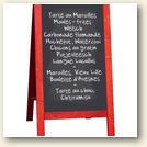 ardoise restaurant specialite regionale