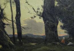 Henri Harpignies, Paysage aux grands arbres et ruisseau, 1892, huile/toile, 0.75x1.02 m, n° inv. RF
