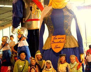 Lors du Forum des géants à Cambrai