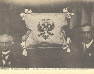 14 septembre 1919 cambrai recoit la legion d'honne