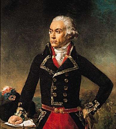 Dumouriez, général en chef de l'armée du Nord. Peinture à l'huile (1834) de Jean-Sébastien Rouillard. (Musée national du château de Versailles.)  Ph. Hubert Josse © Archives Larbor