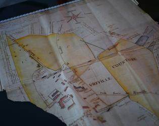 Carte d'arpentage du village de Rumilly