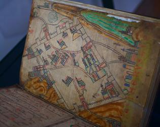 Carte de Jérusalem du 12è siècle