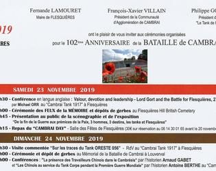 102eme anniversaire bataille de cambrai