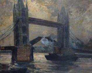 La peinture : Jacques Emile Blanche, Londres, Tower Bridge, vers 1920, huile sur toile, don de l'artiste en 1932, Cambrai, musée des beaux-arts, inv. P 192