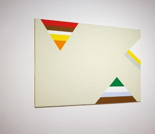 Jean Legros, Triangles dans l'espace, 1978, acrylique sur toile, 113x160 cm, don Société des Amis du musée, inv 2016.3.1