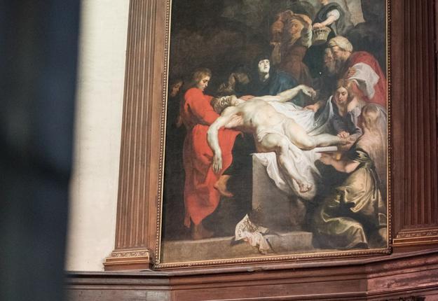 11. La mise au tombeau de Rubens cFrancois Moreau