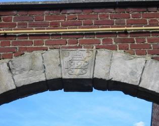 Ferme du Hamel: détail sur le porche d'entr