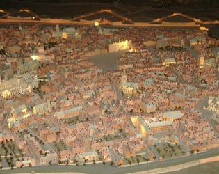 Plan relief de la ville