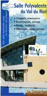 brochure de la salle polyvalente du val du riot