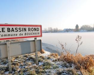 Bassin rond dous la neige - janvier 2009