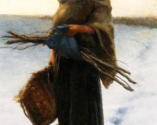 Jules Breton, la porteuse de fagots, huile sur toile, 107 x 74.5 cm, musée des beaux-arts d'Arras, Inv. 983.1