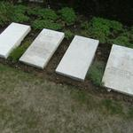 Caudry -Cimetiere communal- steles couchees caudry