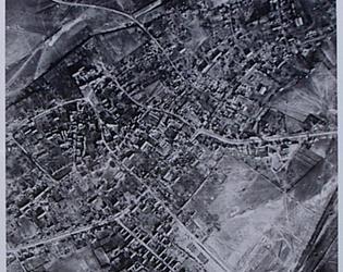 Ruines vue d'avion le 24 mars 1917