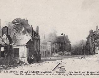 Cambrai OCJ - Incendie devant le Cathedrale