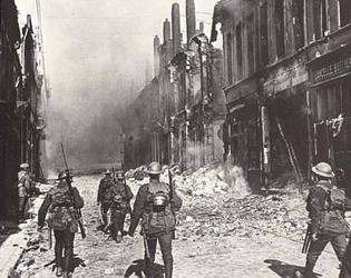 Cambrai OCJ - Les troupes canadiennes entrent dans