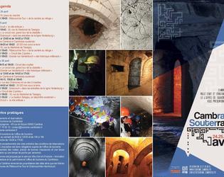 programme recto Cambrai souterrain 2015