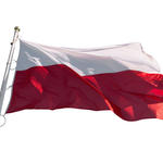 Flag of Poland isolated