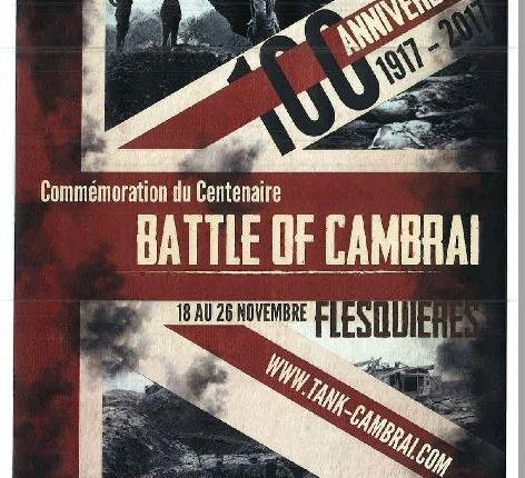 affiche centenaire bataille de cambrai