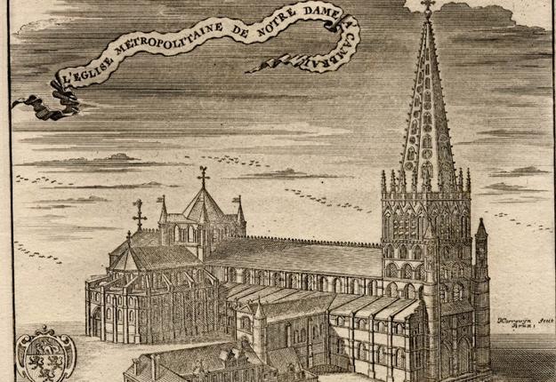 L'ancienne cathédrale gothique de Cambrai