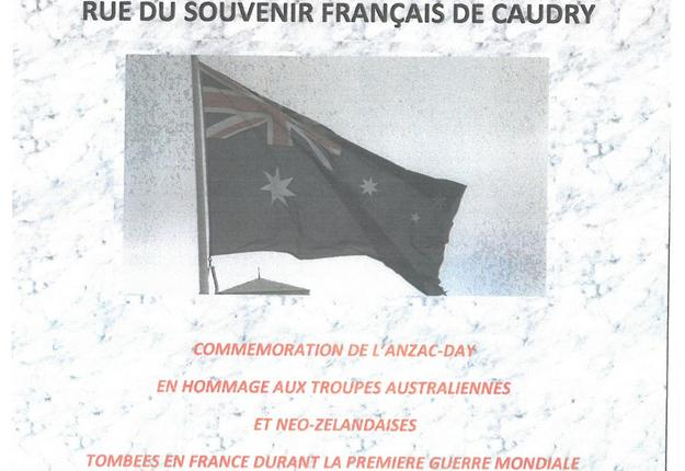 anzac day caudry 2019