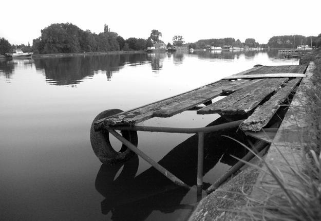 Bassin Rond noir et Blanc