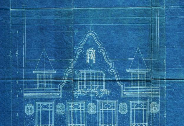 Bleu d'architecte Ernest Gaillard (Marionnaud - an
