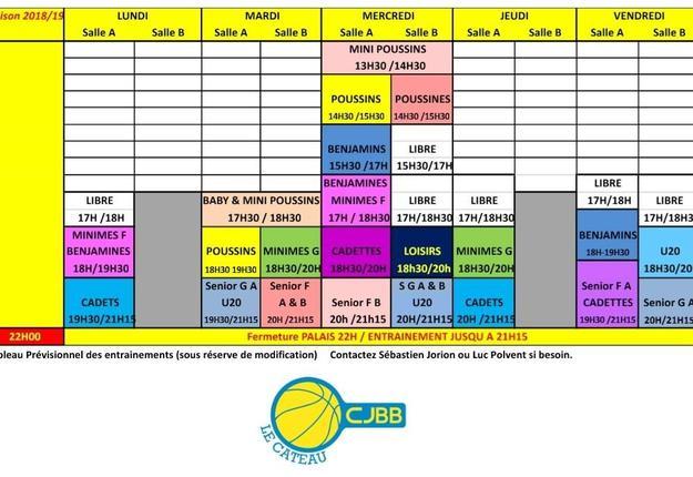 calendrier basket