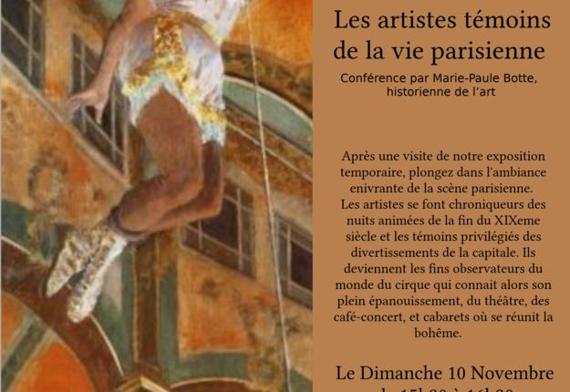conference  les artistes temoins