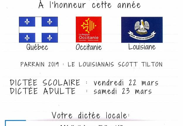 Dictee Francophone 2019