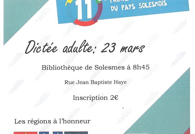 dictée francophone 2019 solesmes
