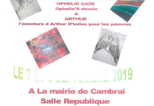 expo peintures mairie de cambrai - 7 et 8 septembr