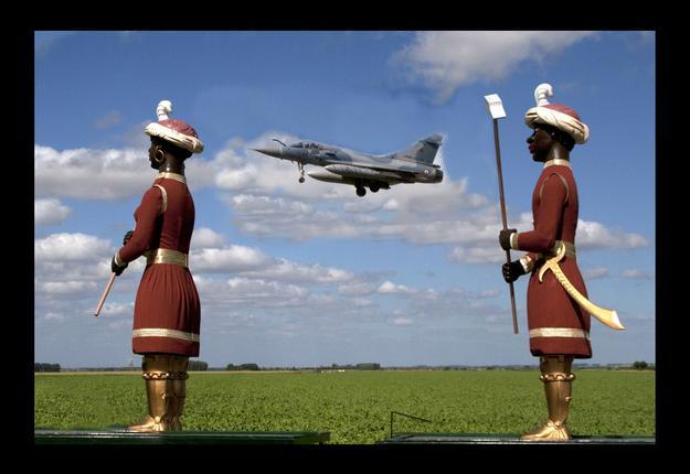 Sortie de Martin et Martin lors de la fermeture de la Base Aérienne 103.