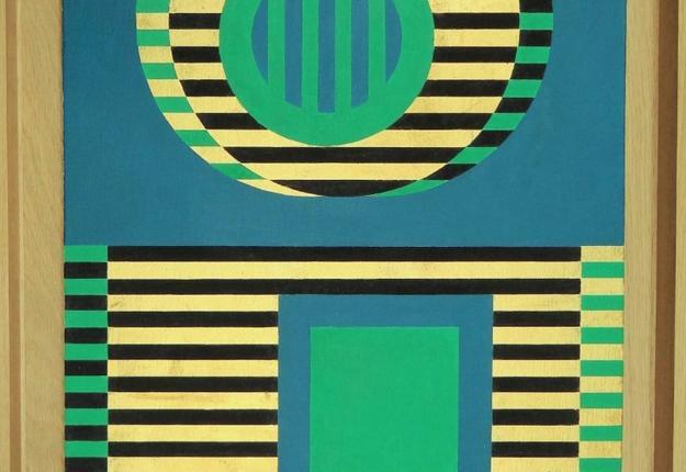 Guy de Lussigny, Sans titre, 1969, acrylique et fe