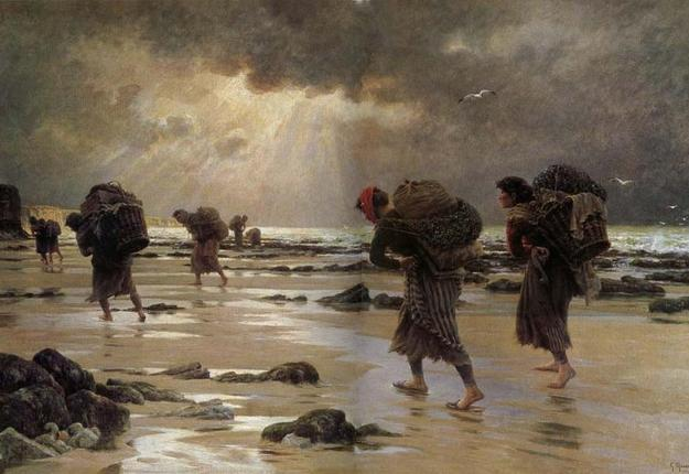 Maroniez, les moulieres au soleil couchant, 1905, huile sur toile, 94 x 120 cm, Musée de Boulogne-sur-Mer, Inv. P. 393/13