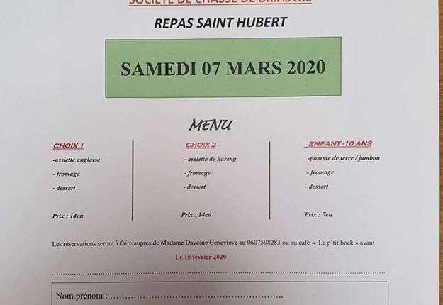 Repas de la Saint-Hubert