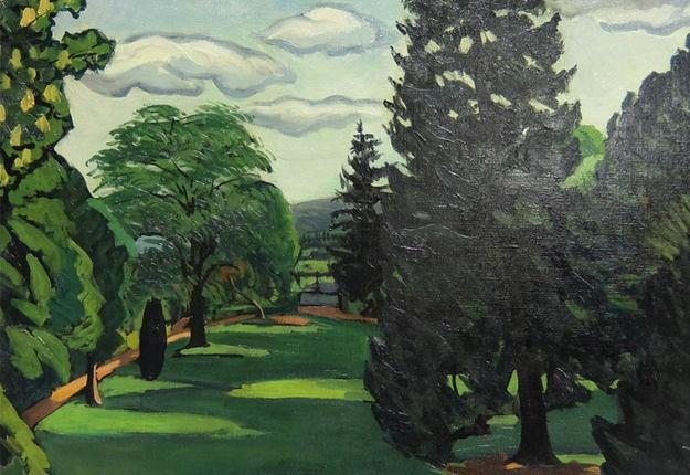 Le grand sapin, 1920. Huile sur toile don de la veuve de l'artiste en 1935, Cambrai - Musée des Beaux-arts. Inv. P266